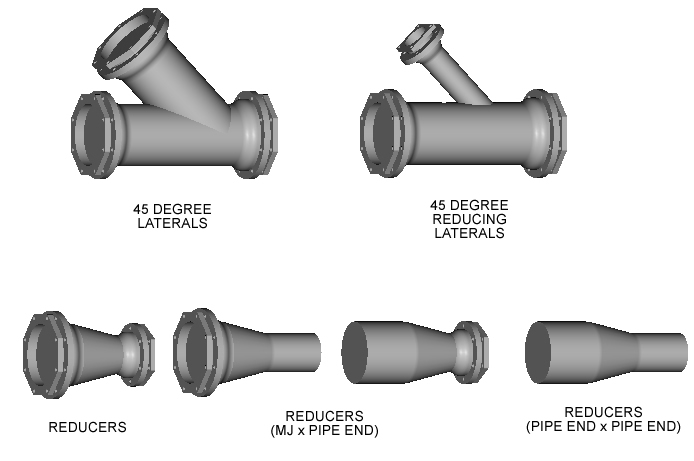 3d Ductile Iron Mechanical Joint Fitting Samples